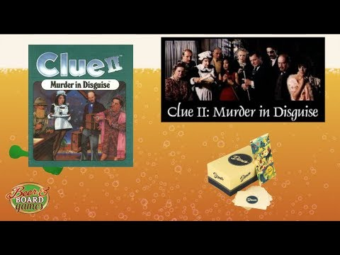Live Clue 2 Murder In Disguise VCR Game + Dimes