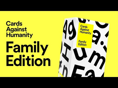 Live Cards Against Humanity FAMILY Edition + Regular edition added in