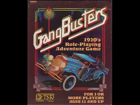 Rated RPG - Gangbusters 1920's Role-Playing Adventure Game