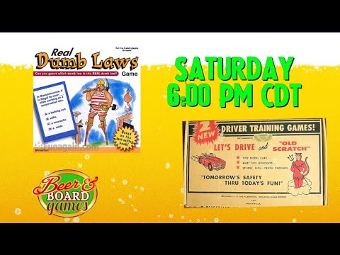 Live Real Dumb Laws + Old Scratch Driving Game on Saturday February 27th at 6pm CST